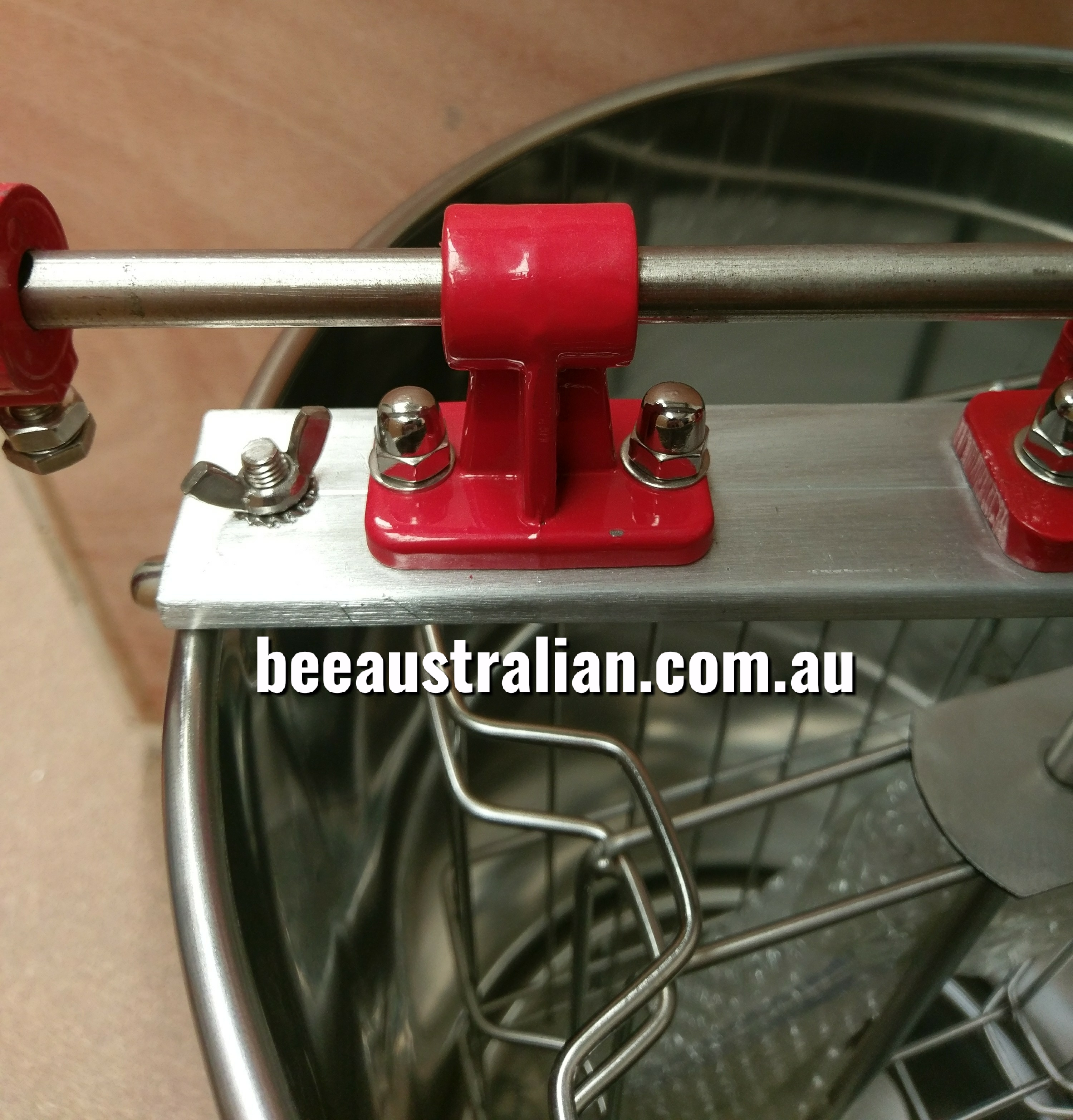 66db8fcbe11 Bee Australian 2 Frame Manual Honey Extractor SS - Bee Australian